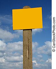 blank sign post agai