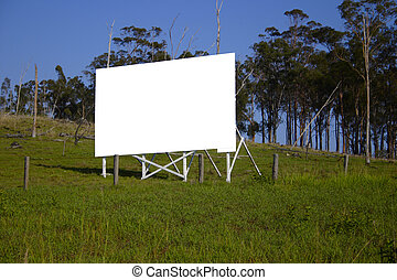 blank sign - Clipping path in JPEG. Blank billboard
