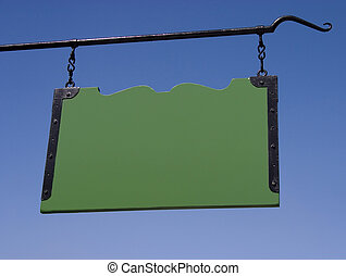 Blank Sign - A comunity park sign thats been blanked out...
