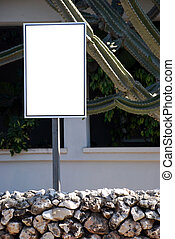 Blank sign with a copy space area
