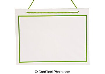Blank Sign With Green Trim