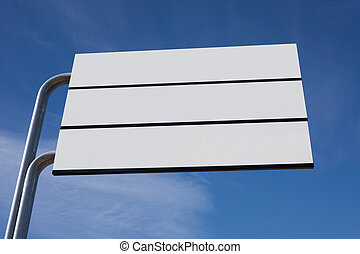 Blank Signage - Blank Sign Post with Blue Sky