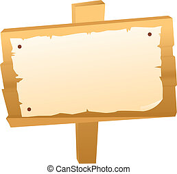 Blank signboard as template and background and others clip art ...