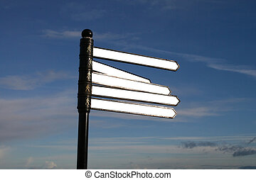 Blank Signpost - A traditional style signpost, wth ...