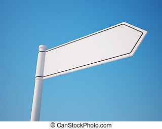 Blank Signpost with Clipping Path - Blank Signpost isolated...