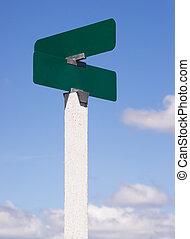 Blank Signs Crossraods Street Avenue Sign Blue Skies Clouds