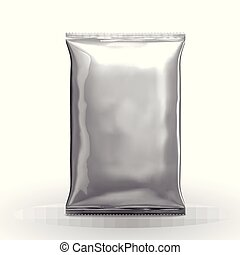 Blank silver chip package design