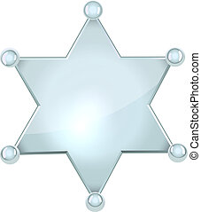 Blank silver sheriff star