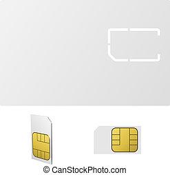 Blank SIM card vector template