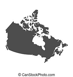 Blank similar Canada map isolated on white background. North...