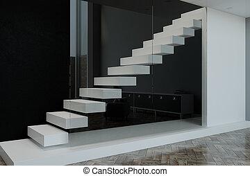 blank slab in modern apartment