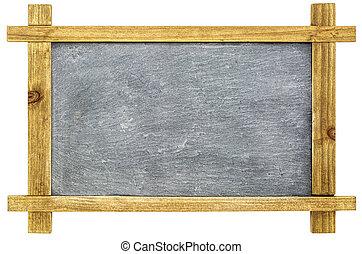 blank sltate blackboard isolated