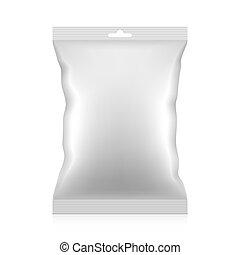 Blank snacks food packaging bag - Blank snacks food foil...