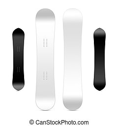 Blank snowboard template