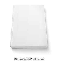 Blank softcover book template on white. - Blank softcover ...