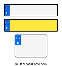 Blank Spanish Licence Plates - Blank Spanish vehicle licence...