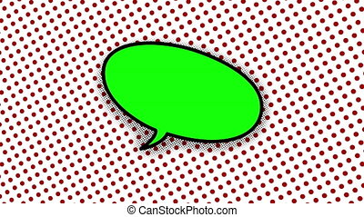 blank speech balloon in comic style animation, 4K retro...