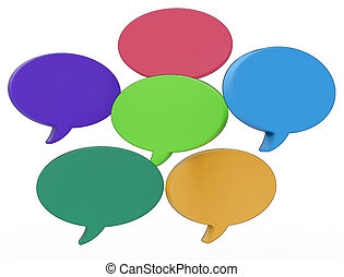 Blank Speech Balloons Shows Copy space For Thought Chat Or Idea