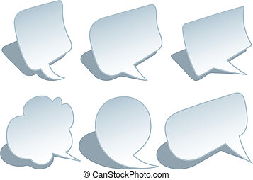 blank speech bubbles, vector set