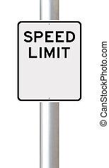 Blank Speed Limit Sign  - A blank speed limit sign