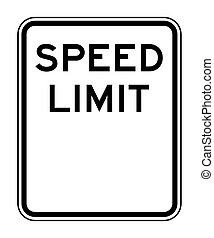 Blank speed limit sign - Blank American speed limit sign...