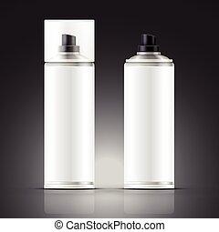 blank spray can
