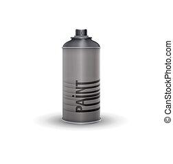 Blank spray paint, black, vector illustration