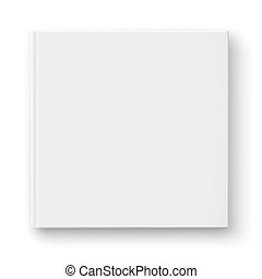 Blank square album template.