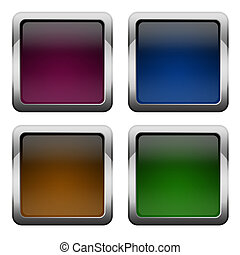 Blank square buttons