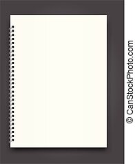 Blank Square notebook calendar mockup cover template