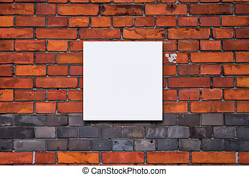 Blank square shaped painting or photograph mock up copy space