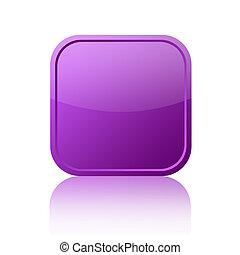 Blank square web button