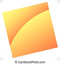Blank square with gloss effect - Tilted square icon
