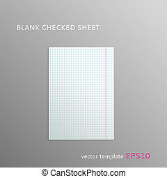 Blank squared paper sheet