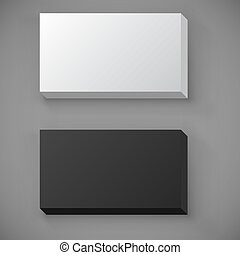 Blank standard business card stack template.