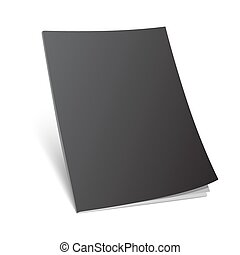 blank standing black magazine cover