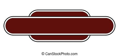 Blank Station Name Sign - A blank station name plate over a...