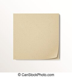 blank stick note paper