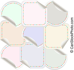 blank stickers label tag set