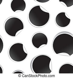 Blank white round transparent stickers mock up seamless