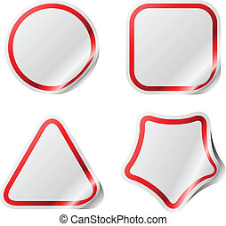 Blank stickers with color frame.