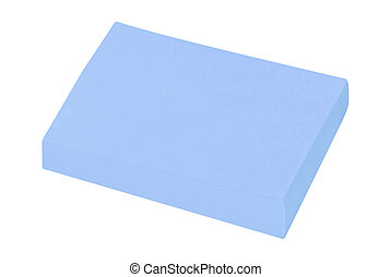 blank sticky note isolated on white background