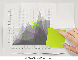 blank sticky note with business strategy crumpled paper as concept