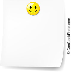 Blank Sticky Note With Have A Nice Day With Gradient Mesh,...