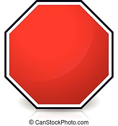 Blank stop sign      Blank stop sign