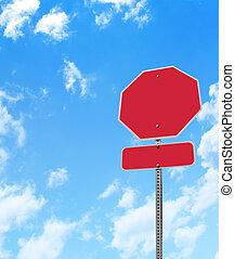Blank Stop Sign Warning