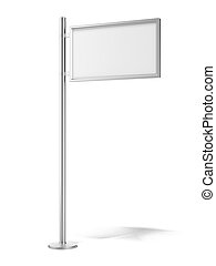 blank street advertising banner
