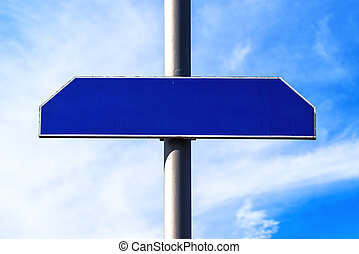 Blank street name sign as copy space