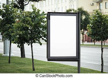 Blank street poster