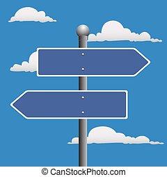 Blank Street sign  - Blank, Street, sign